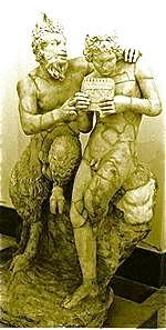 Pan, god of shepherds, fields, & fertility