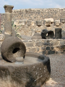 neck-sized millstone in Capernaum