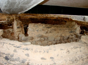 Peter's House: between the Synagogue and the shoreline in Capernaum center