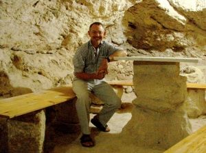 in an authentic shepherd's cave - table came a bit later