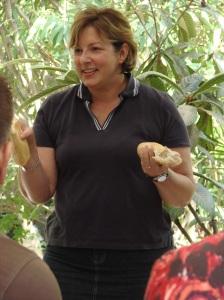 """Tammy Jo breaking bread: Communion in the """"Garden Tomb"""""""