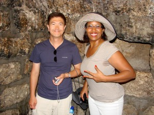 JW and Kim, hamming in the tomb- I'm on the opposite wall - small space.