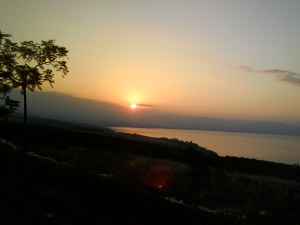 sunrise on Sea of Galilee