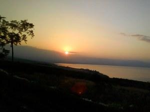 sunrise on Sea of Galilee