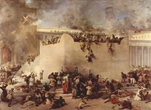 Titus destroys the temple