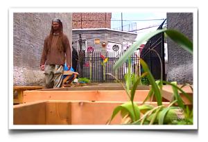 Shane Claiborne, community garden