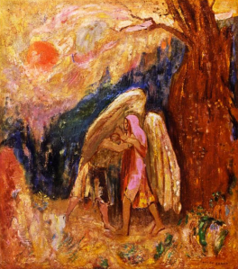 Jacob and Angel - Odilon Redon