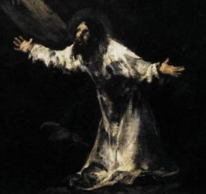 Jesus in garden - Goya
