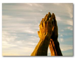 praying hands shadow